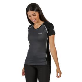 Regatta Tornell II Camiseta Mujer, gris/negro